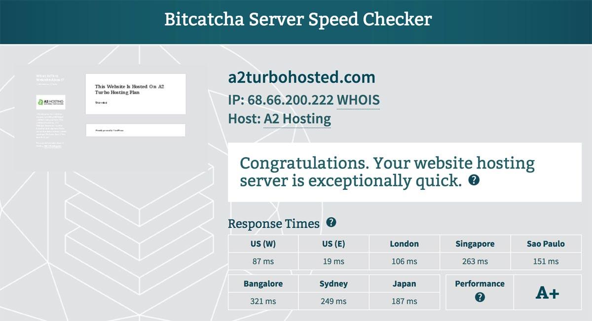 A2 Turbo Server Response Time